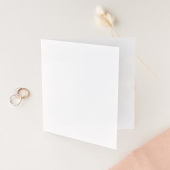 Carte de remerciement mariage Libre Création, Double Volet, 14 x 14 cm