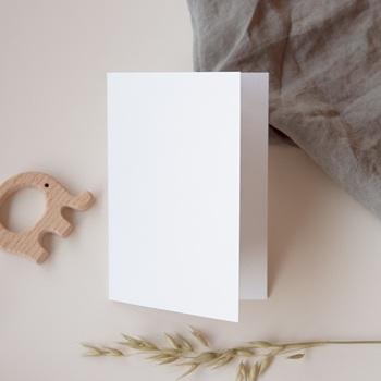Carte de remerciement mariage Libre Création, Double Volet, 10,5 x 15 cm