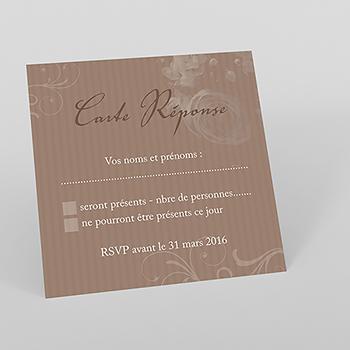 Carton réponse mariage Bouquet