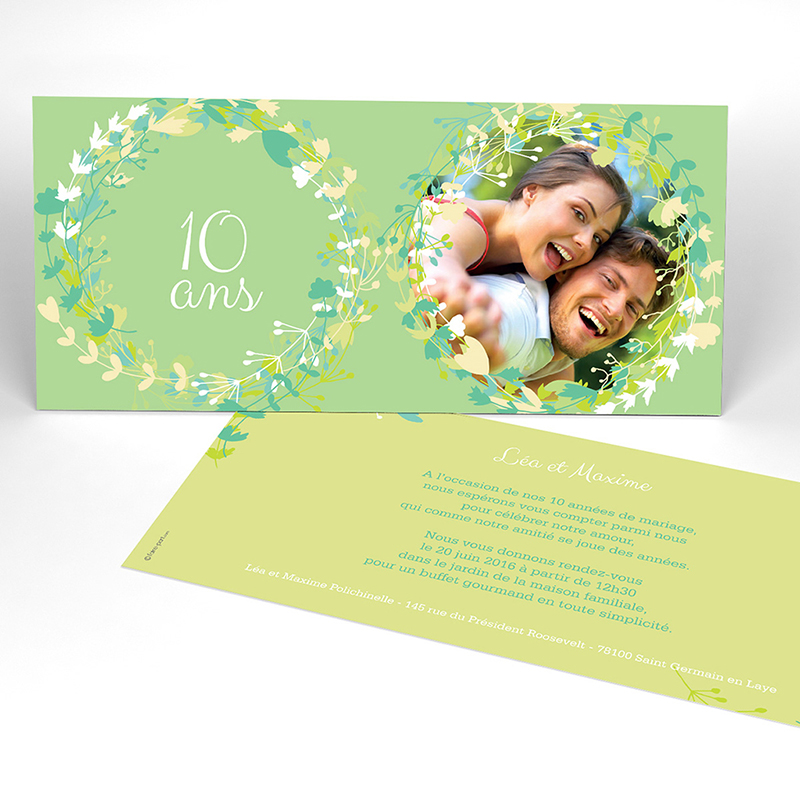 Carte anniversaire de mariage Tourbillon de printemps