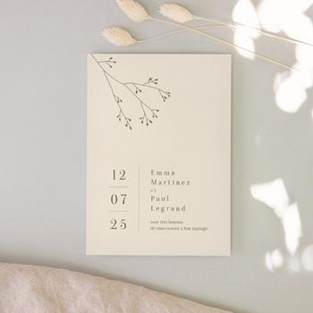 Faire-part de mariage Brin de Provence simple