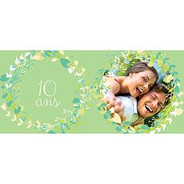 Carte anniversaire de mariage Tourbillon de printemps pas cher