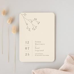 Faire-part de mariage Brin de Provence minimaliste