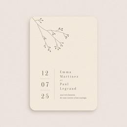 Faire-part de mariage Brin de Provence minimaliste gratuit