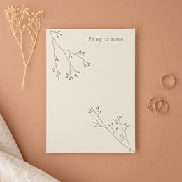 Carte d'invitation mariage Brin de Provence programme
