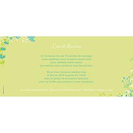 Carte anniversaire de mariage Tourbillon de printemps gratuit