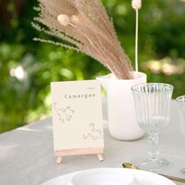 Marque table mariage Brin de Provence tables thème régions de France gratuit