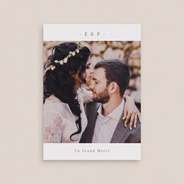Carte de remerciement mariage Brin de Provence nude avec Photo gratuit