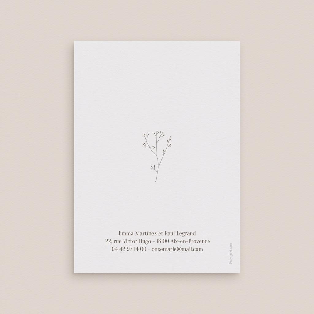 Save-the-date mariage Brin de Provence, Noter la date pas cher