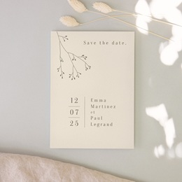 Save-the-date mariage Brin de Provence, Noter la date