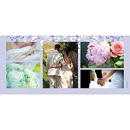 Carte de remerciement mariage Romance  gratuit