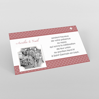 Carte d'invitation mariage Tomette
