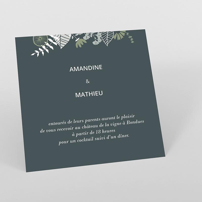 Carte d'invitation mariage Matcha