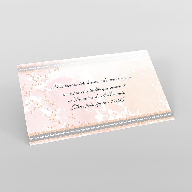 Carte d'invitation mariage Sensibilis