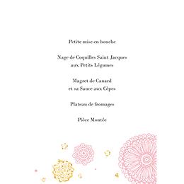 Menu mariage Paillettes