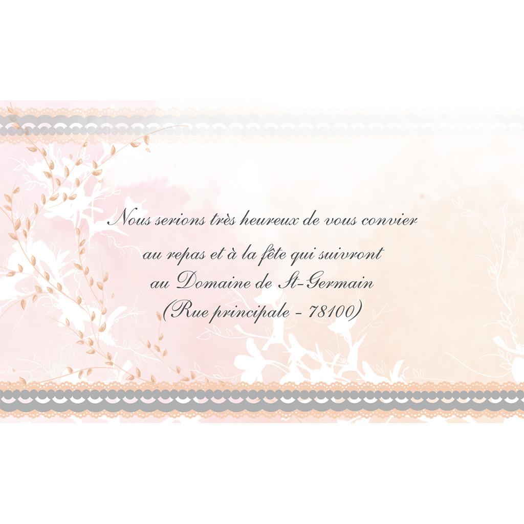 Carte d'invitation mariage Sensibilis  pas cher