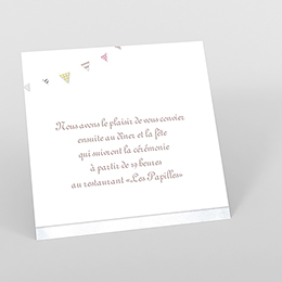 Carte d'invitation mariage Bonheur à croquer