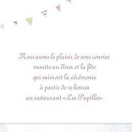 Carte d'invitation mariage Bonheur à croquer  pas cher