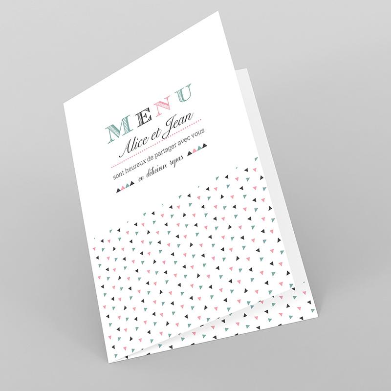 Menu mariage Letterpress Graphic