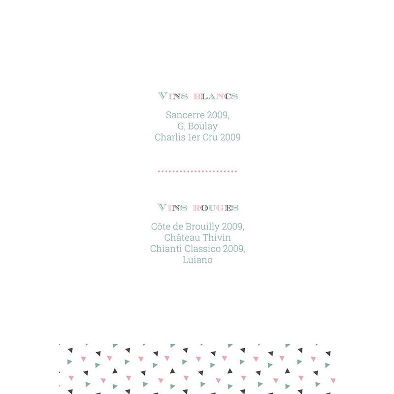 Menu mariage Letterpress Graphic gratuit