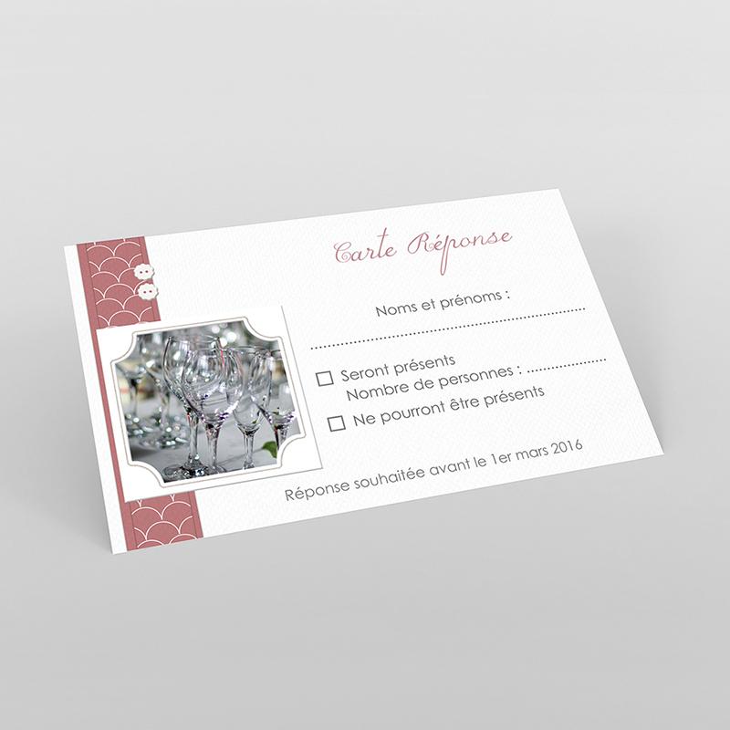 Carton réponse mariage Tomette