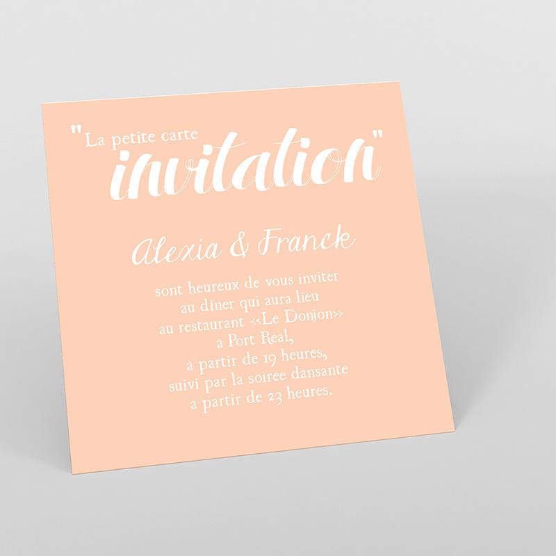 Carte d'invitation mariage Un grand jour