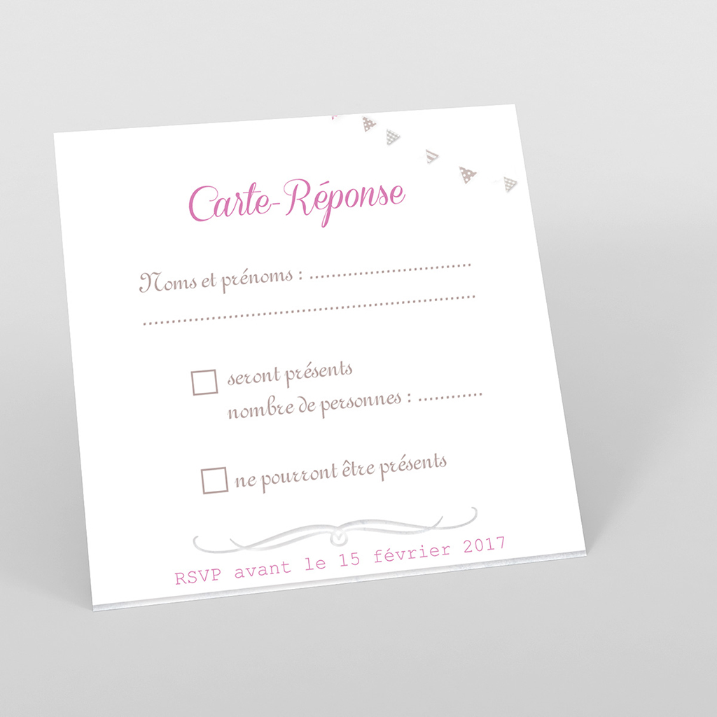 Carton réponse mariage Bonheur à croquer