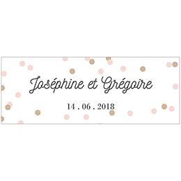 Marque-place mariage Pretty Confettis pas cher