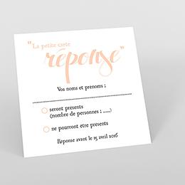 Carton réponse mariage Un grand jour