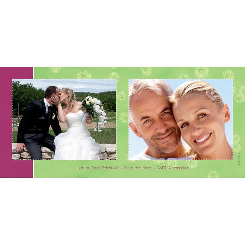 Carte anniversaire de mariage A la folie  gratuit