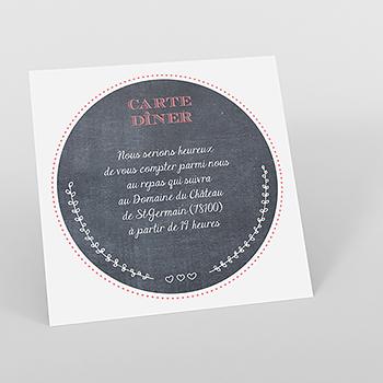 Carte d'invitation mariage Tendance ardoise