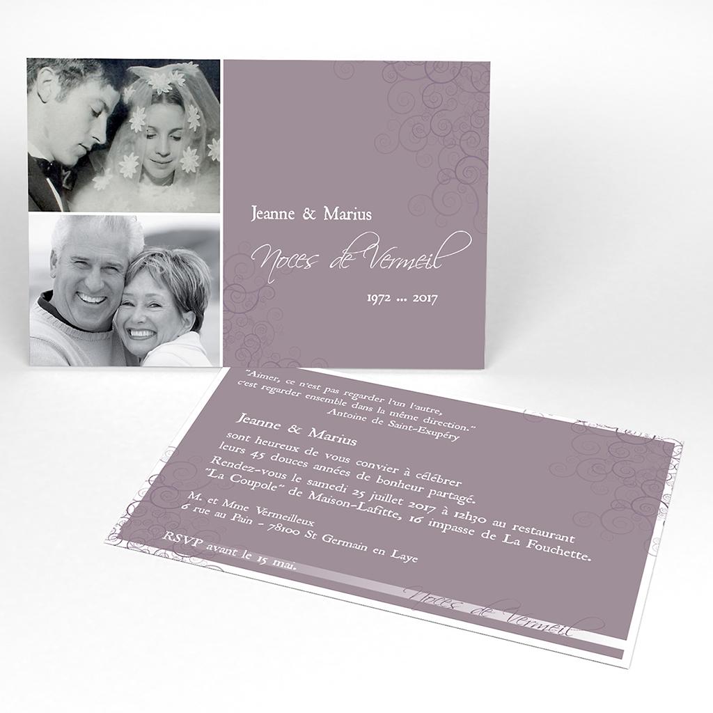 Carte anniversaire de mariage Tendresse