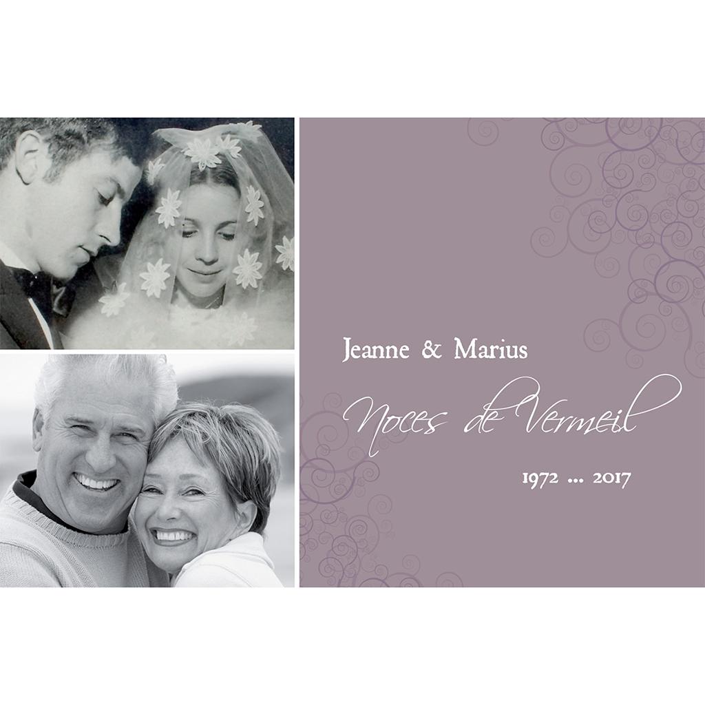 Carte anniversaire de mariage Tendresse  pas cher