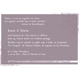Carte anniversaire de mariage Tendresse  gratuit