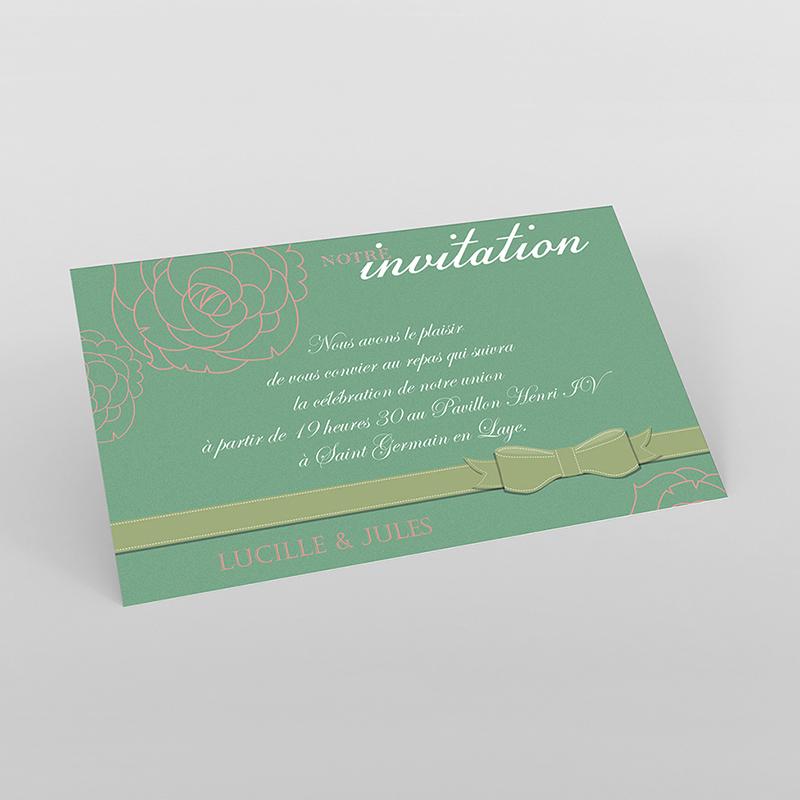 Carte d'invitation mariage Ruban