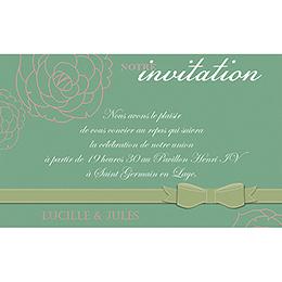 Carte d'invitation mariage Ruban  pas cher