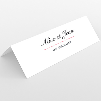 Marque-place mariage Letterpress Graphic