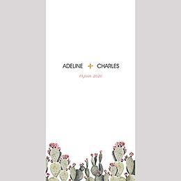 Menu mariage Fleur de cactus pas cher