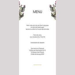 Menu mariage Fleur de cactus gratuit