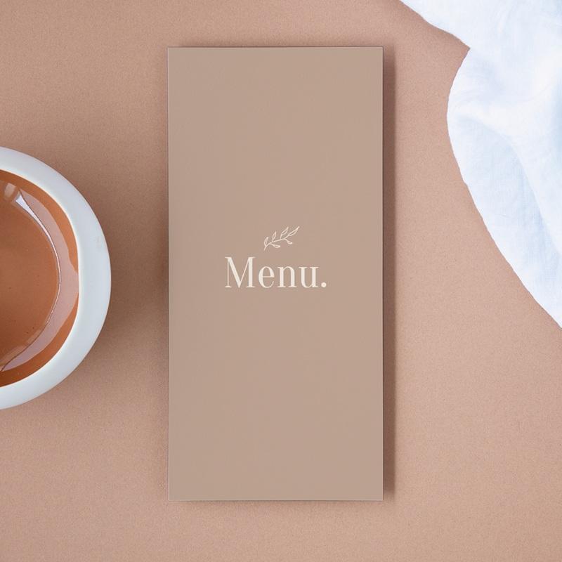 Menu mariage Typographie & Couleur, repas de noces