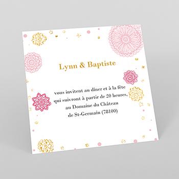 Carte d'invitation mariage Paillettes