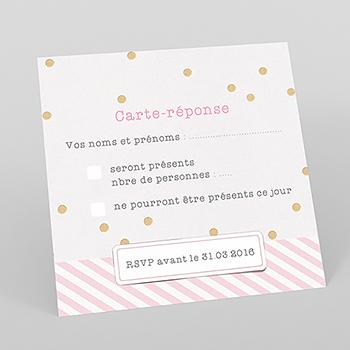 Carton réponse mariage La vie en rose
