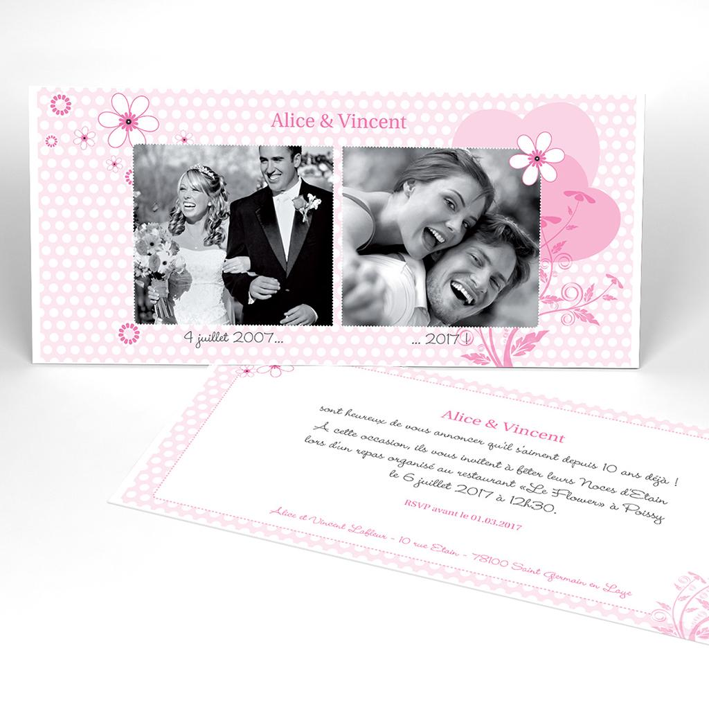 Carte anniversaire de mariage Flower