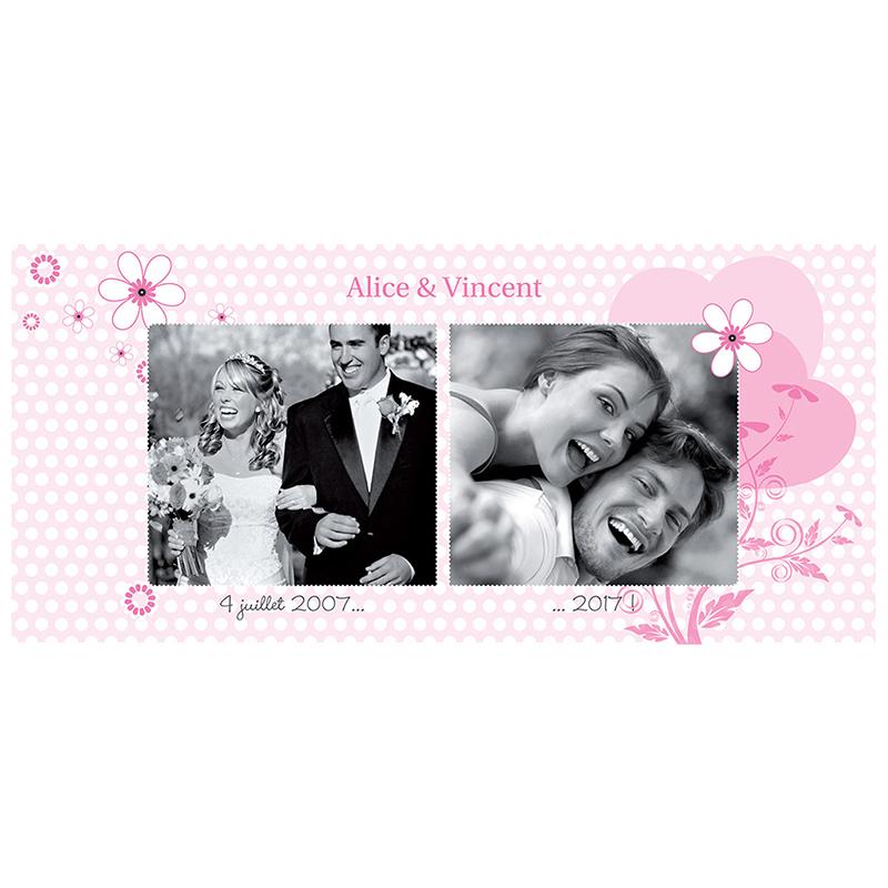 Carte anniversaire de mariage Flower  pas cher