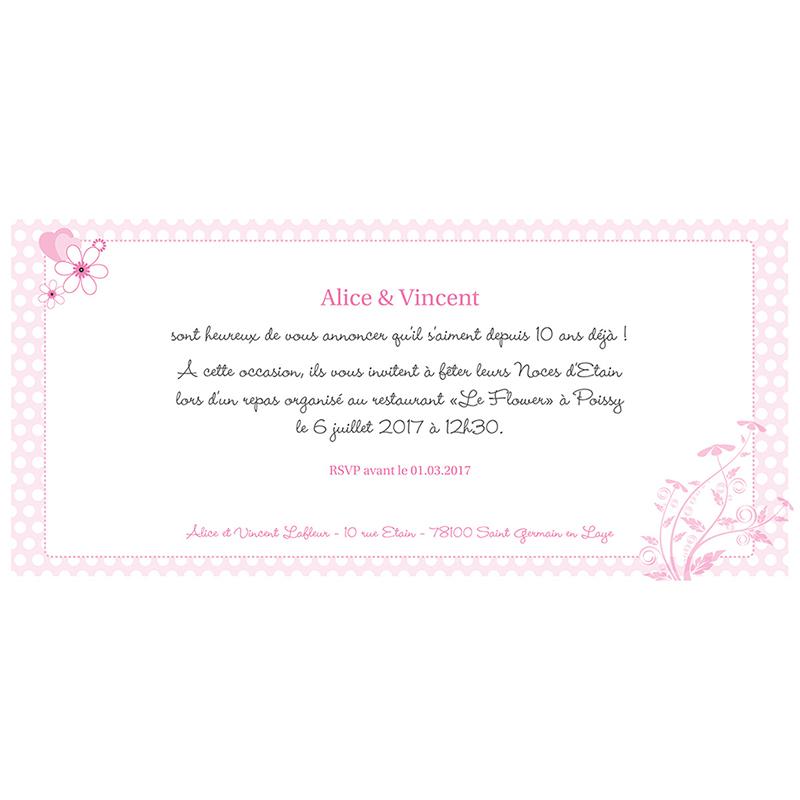 Carte anniversaire de mariage Flower  gratuit