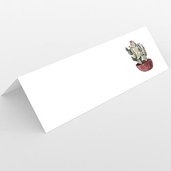 Marque-place mariage Fleur de cactus
