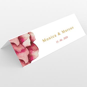 Marque-place mariage Rouge champêtre