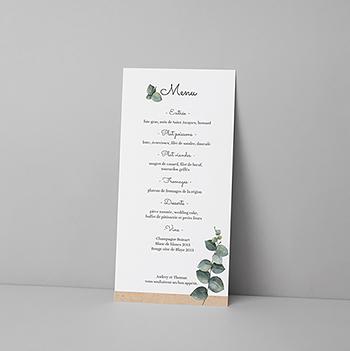 Menu mariage Liège d'Eucalyptus