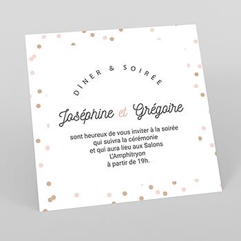 Carte d'invitation mariage Pretty Confettis