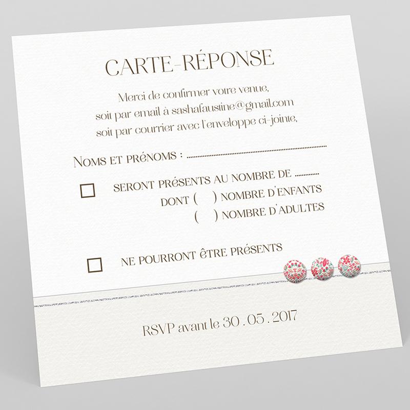 Carton réponse mariage Pureté